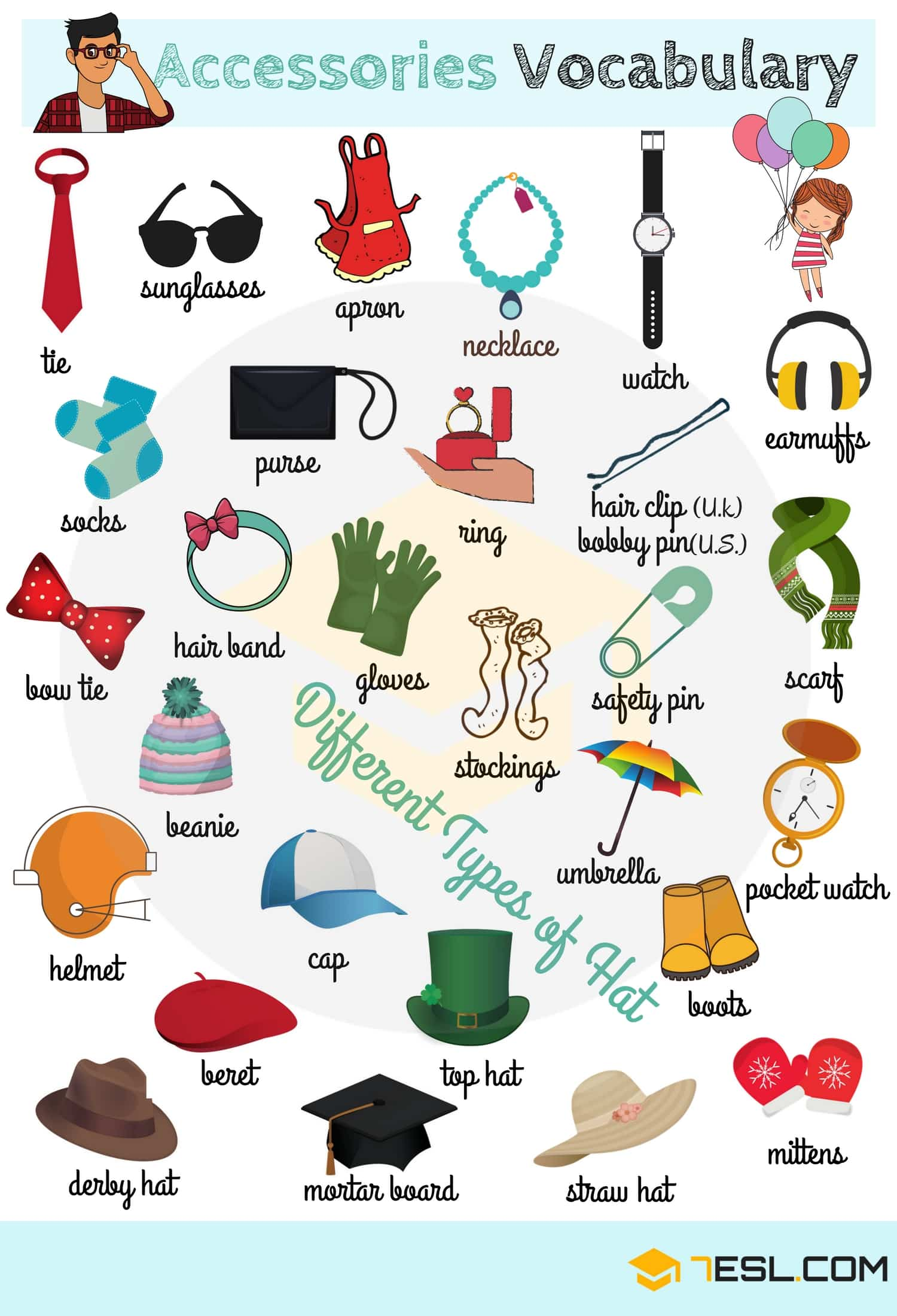 Accessories Vocabulary | Image
