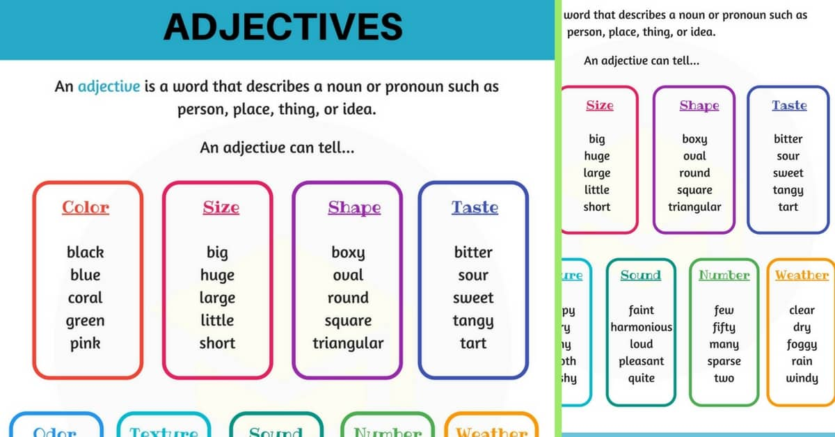 Adjectives: What is An Adjective? Useful Rules & Examples 1