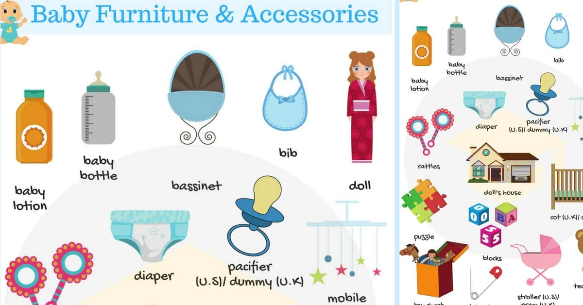 Baby Furniture and Accessories Vocabulary | Baby Room 28
