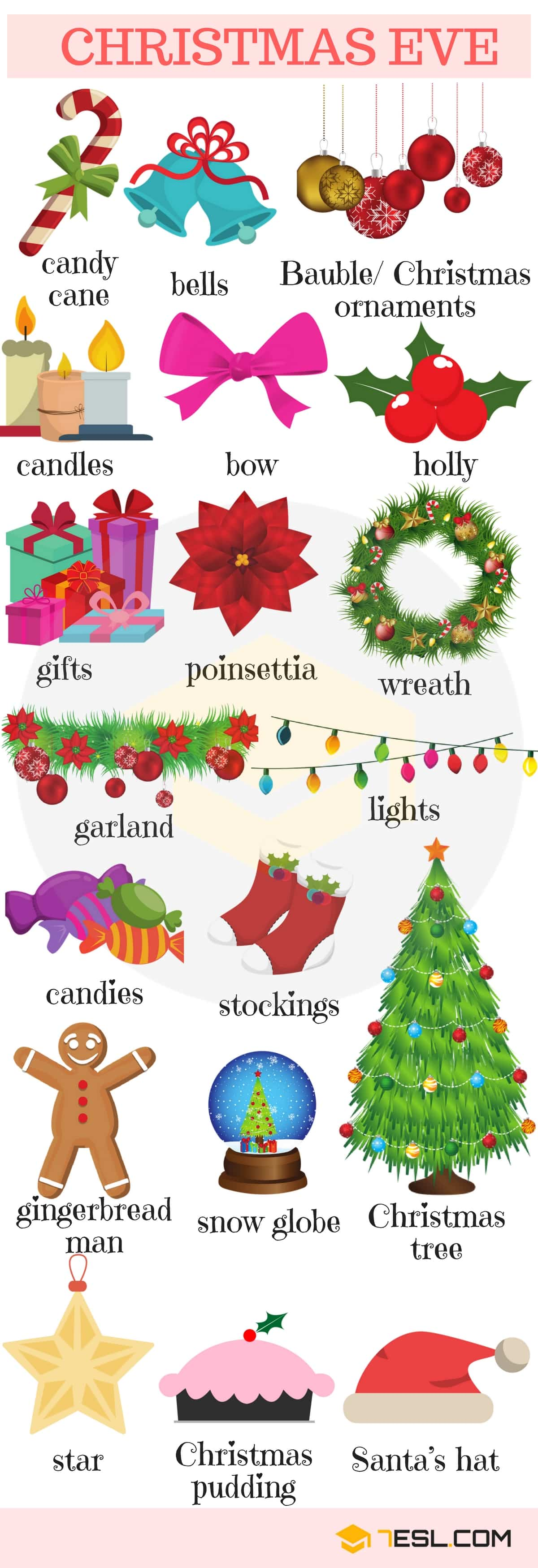 Christmas Vocabulary | Picture