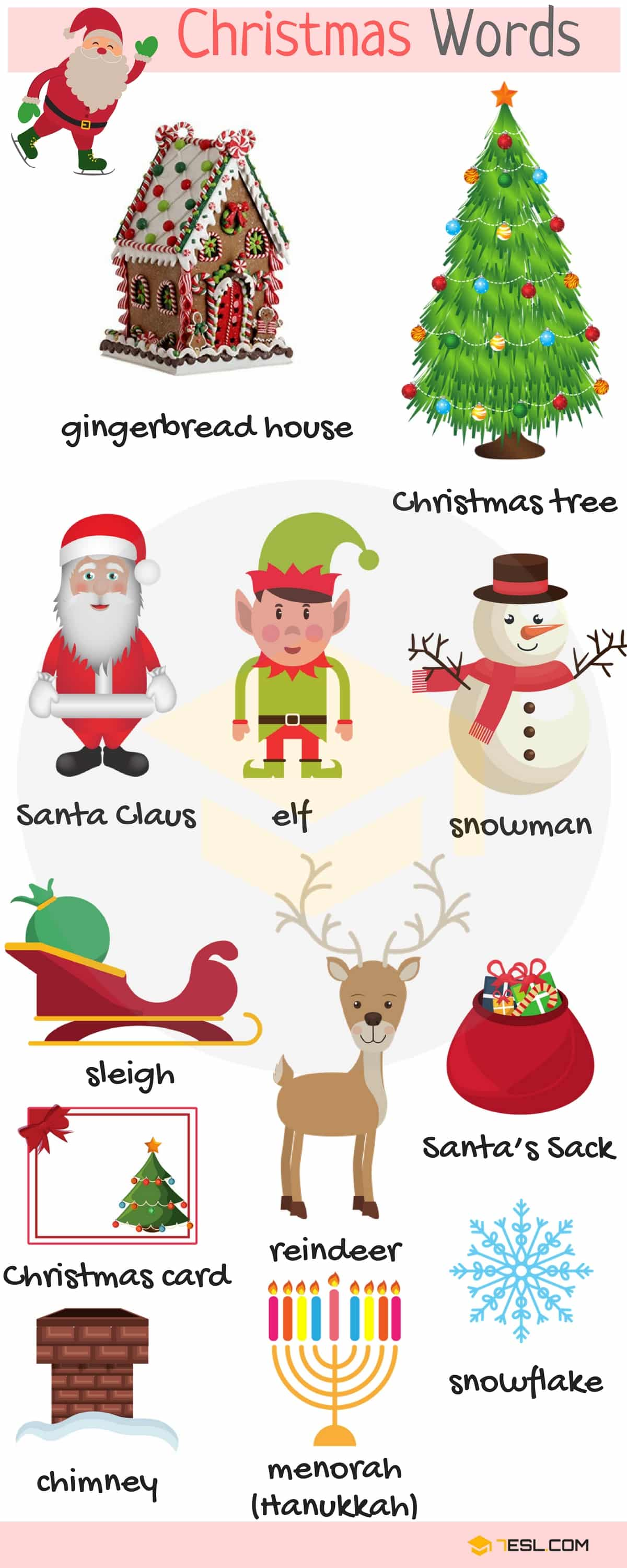 Christmas Words: Useful Christmas Vocabulary Words List
