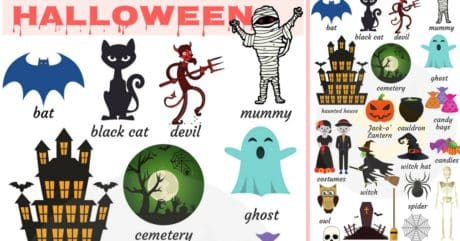 Halloween Vocabulary in English | Talking about Halloween 99
