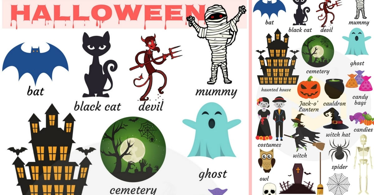 Halloween Words Useful Halloween Vocabulary Words 7 E S L