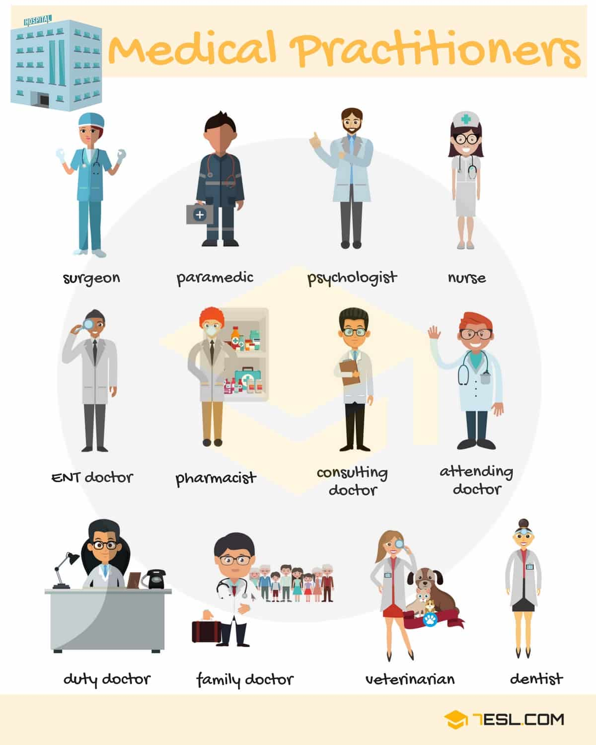 Different Types of Doctors | Picture