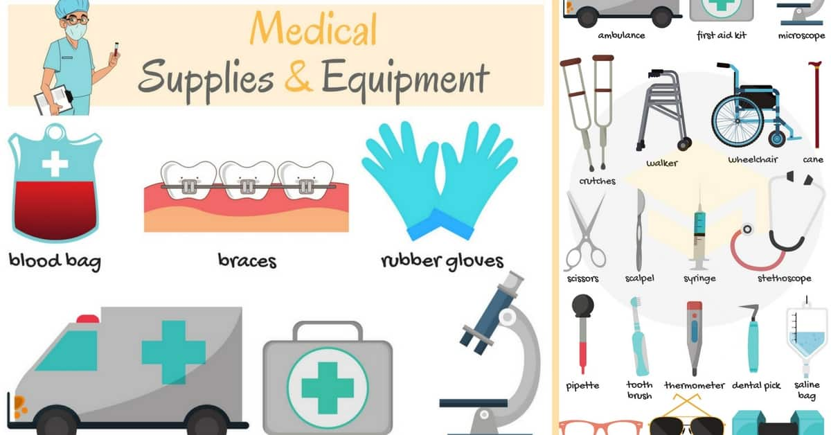 Medical Supplies and Equipment Names in English 1