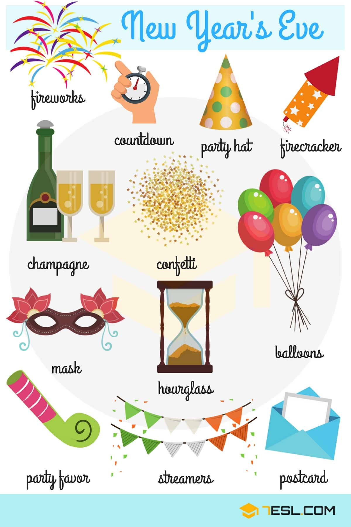 New Year's Eve Vocabulary