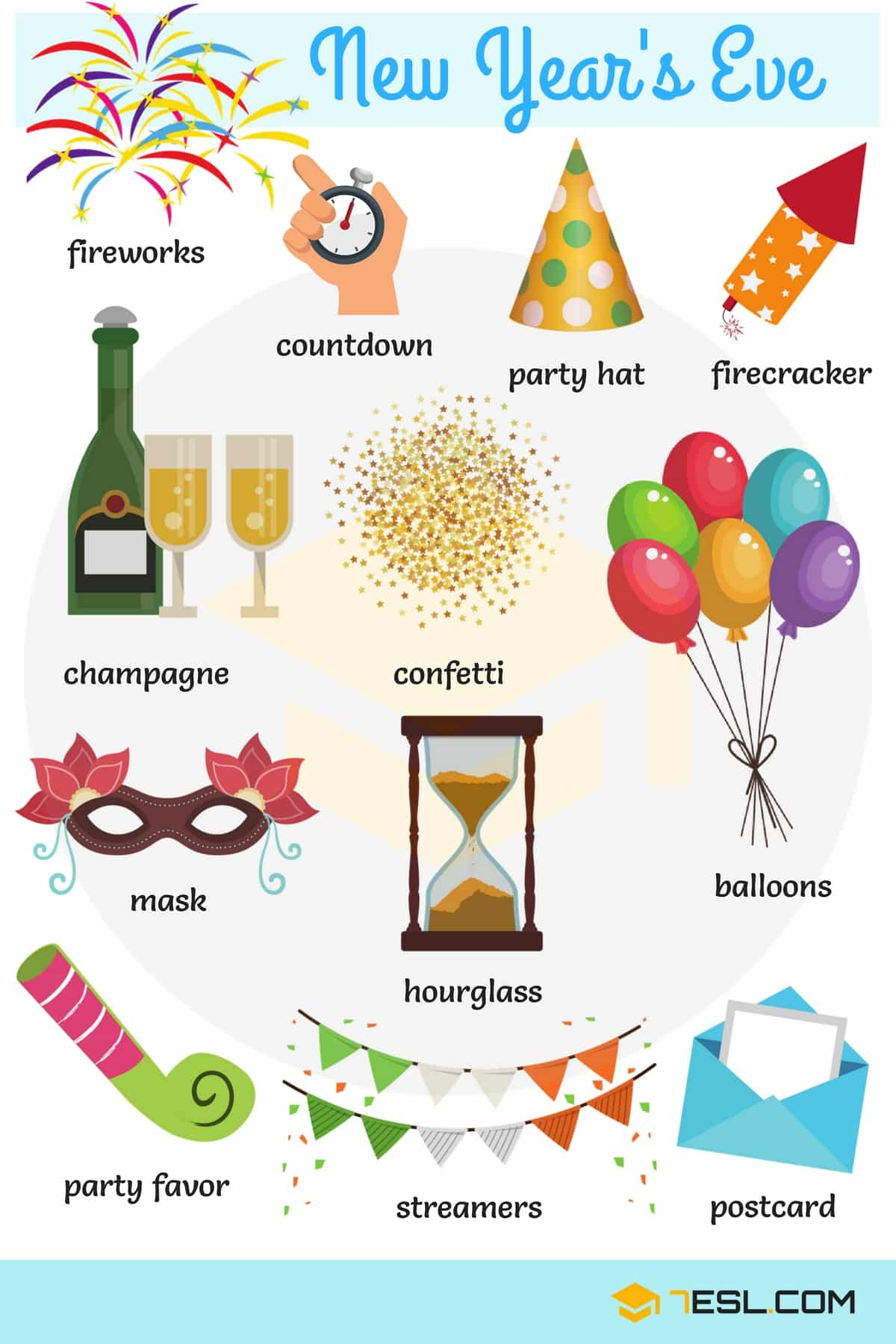Happy New Year! New Year Vocabulary Words