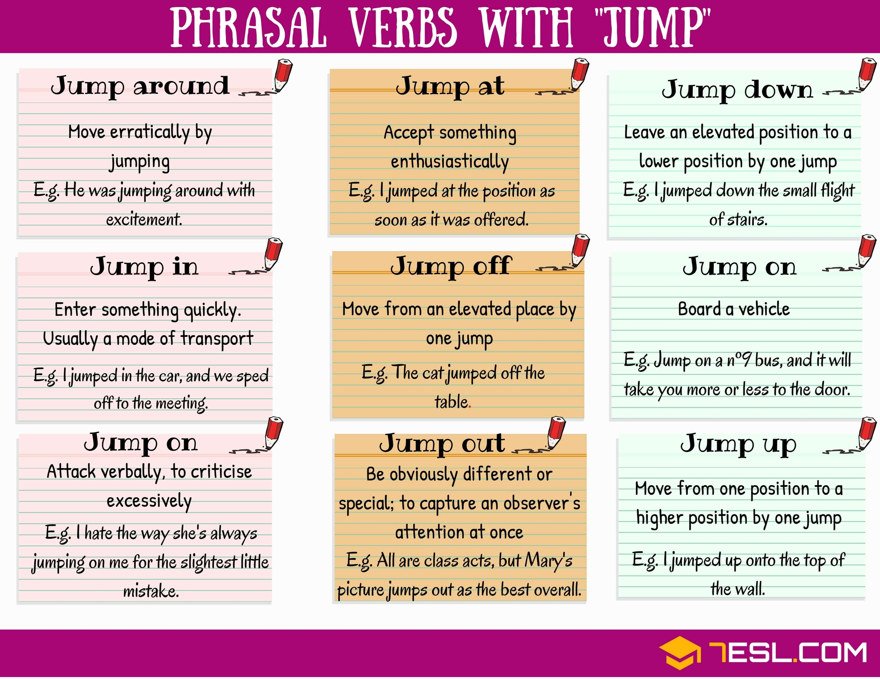 phrasal verbs with JUMP