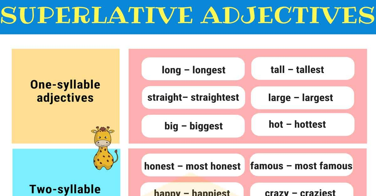 Superlative Adjectives: Definition, Rules & Useful Examples 1
