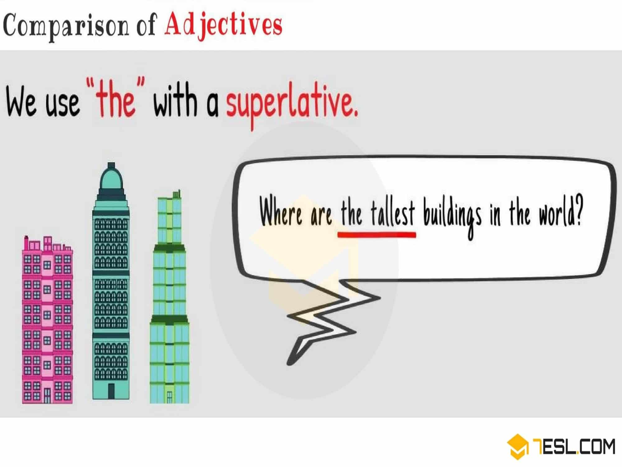 Superlative Adjectives | Forming Superlatives
