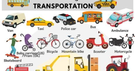 Common Vehicles Vocabulary | Modes of Transportation 22