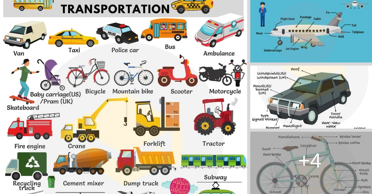 Transportation Vocabulary in English | Vehicle Names 26