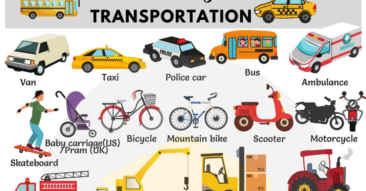 Types of Vehicles with Names and Useful Pictures - 7 E S L