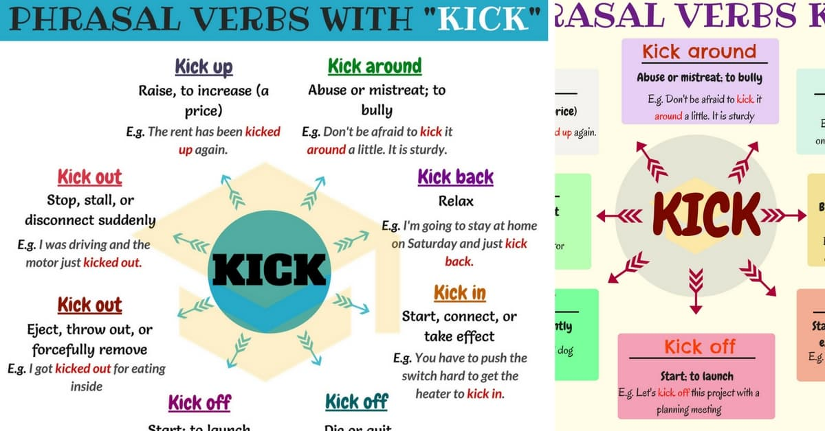 19 Phrasal Verbs with KICK: Kick off, Kick out, Kick in, Kick up... 1