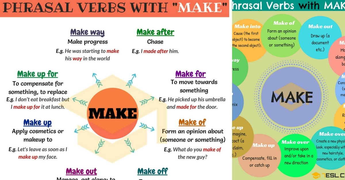 Make up phrasal verb use