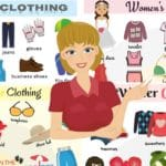Clothes Vocabulary: Names of Clothes in English with Pictures