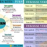 60+ Common Phrasal Verbs with TURN in English