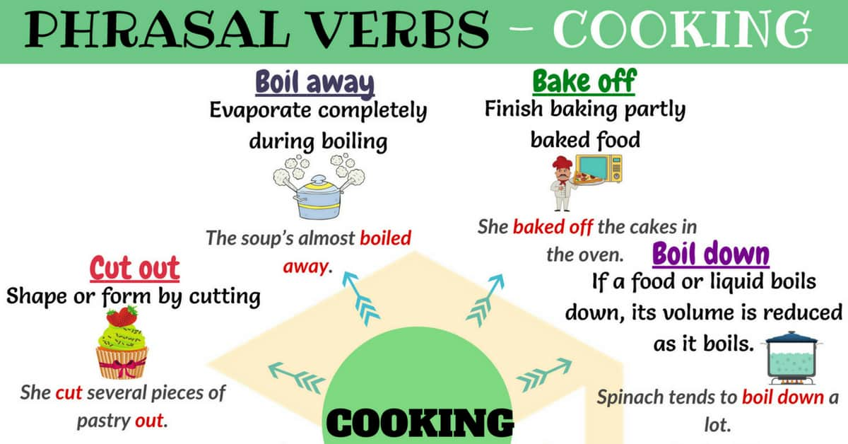 Cooking Vocabulary: 16 Cooking Phrasal Verbs in English 1