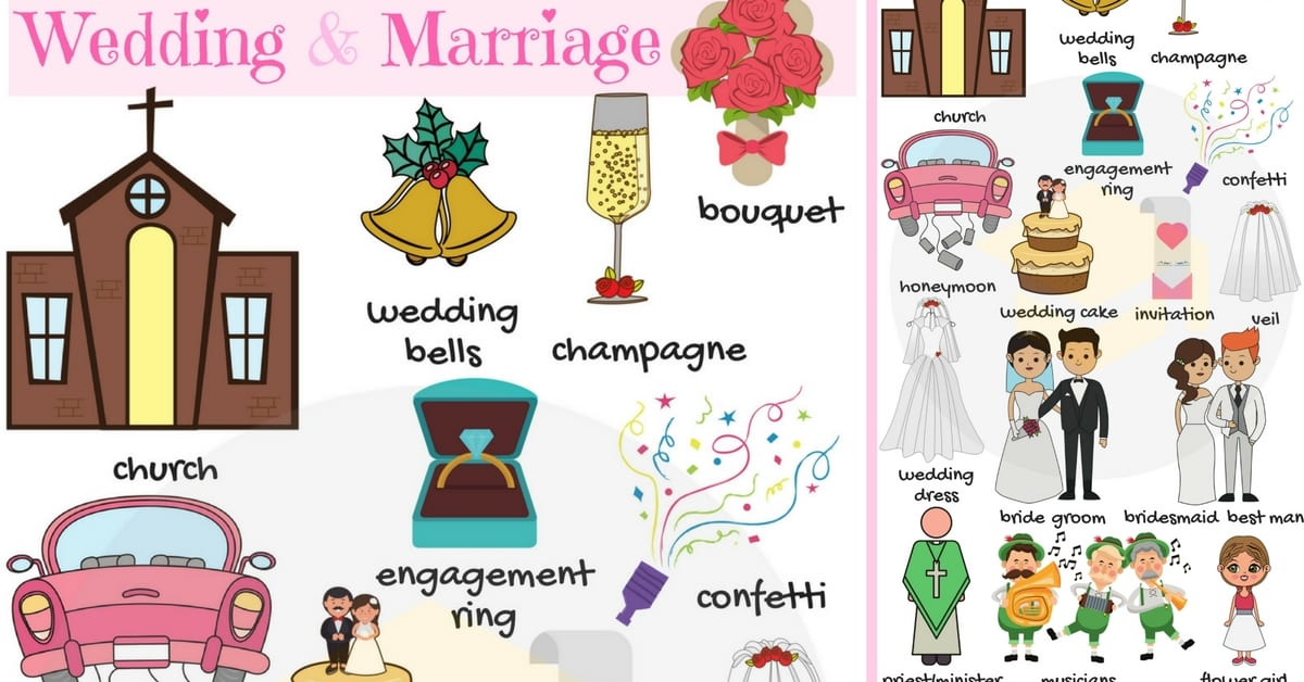 Wedding and Marriage Vocabulary in English 21
