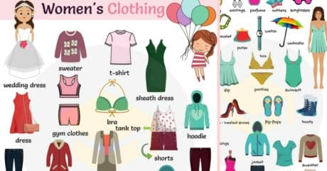 Women's Clothing Names with Printable Pictures 87