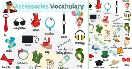 Accessories Vocabulary with Pictures | Accessories Names 213