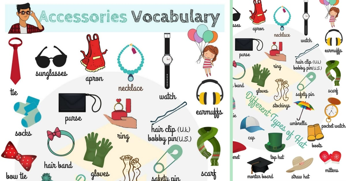 Clothes vocabulary list images