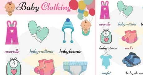 Children's Clothing Vocabulary with Pictures 100