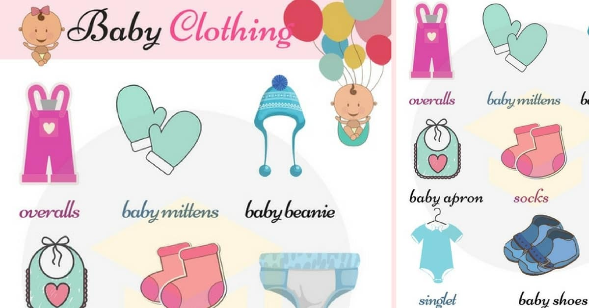Baby Clothes Names: Children's Clothing Vocabulary with Pictures 1