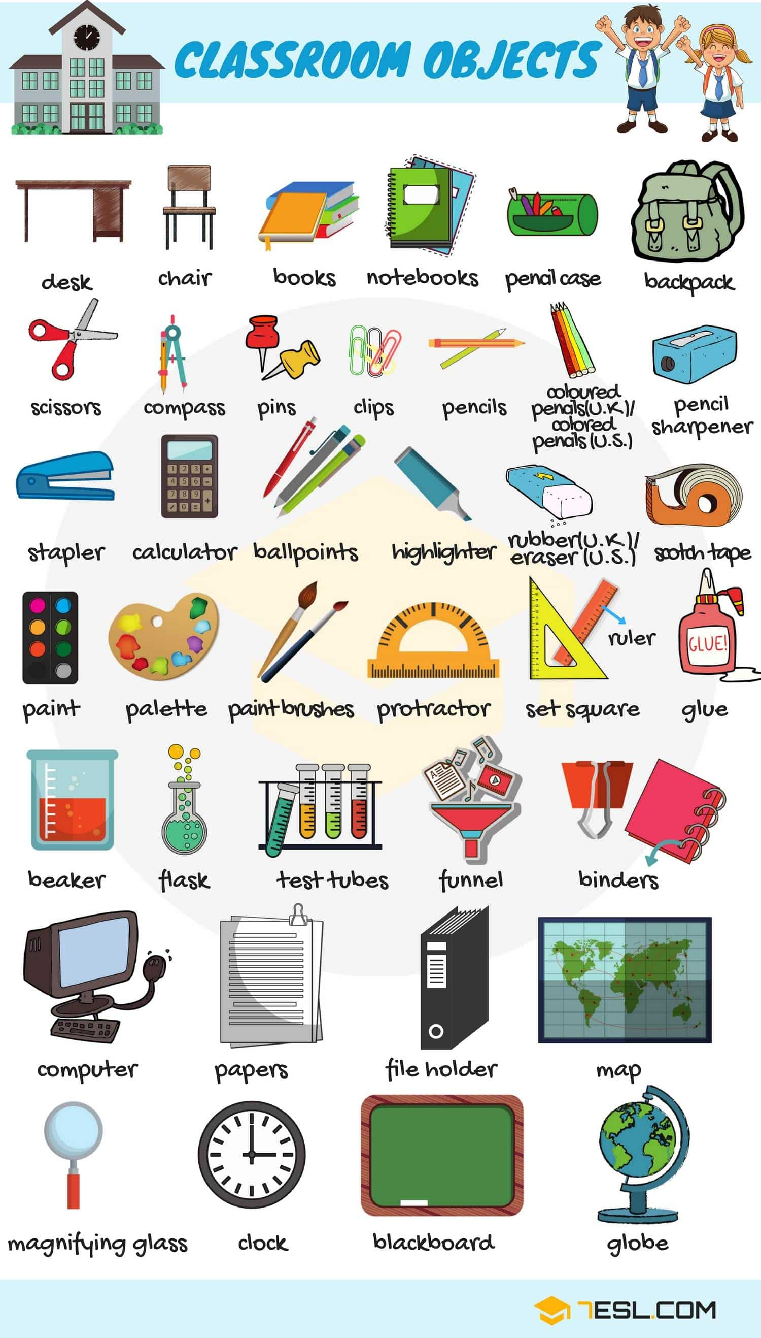 School Objects  | Image