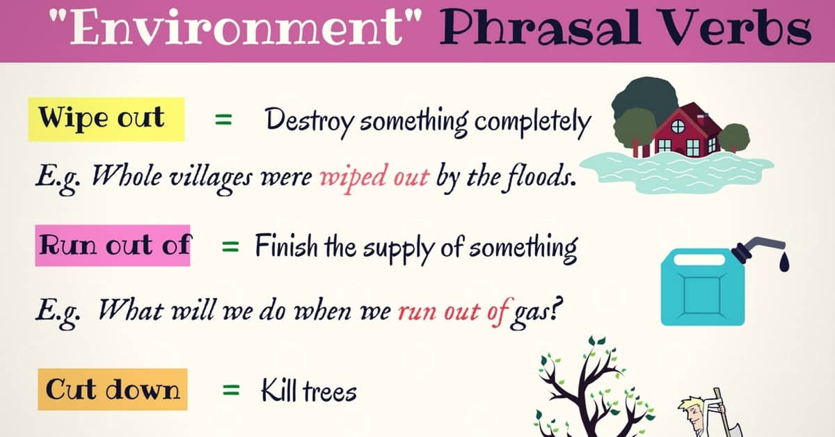 List of Environment Phrasal Verbs (with Meaning and Examples) 4
