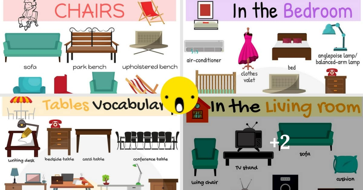 Furniture pictionary archives 7 e s l for Living room vocabulary