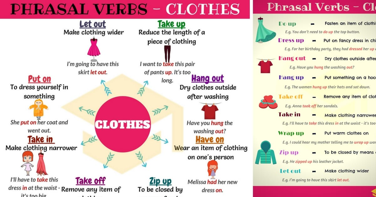 20 Useful CLOTHING Phrasal Verbs in English 1