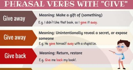 36 Commonly Used Phrasal Verbs with GIVE in English 25