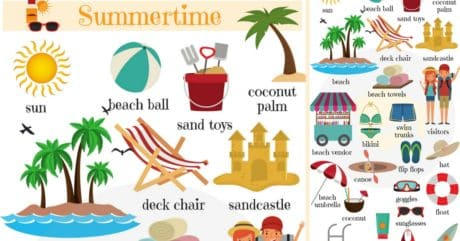Summer Vocabulary in English | Words for Summer 17