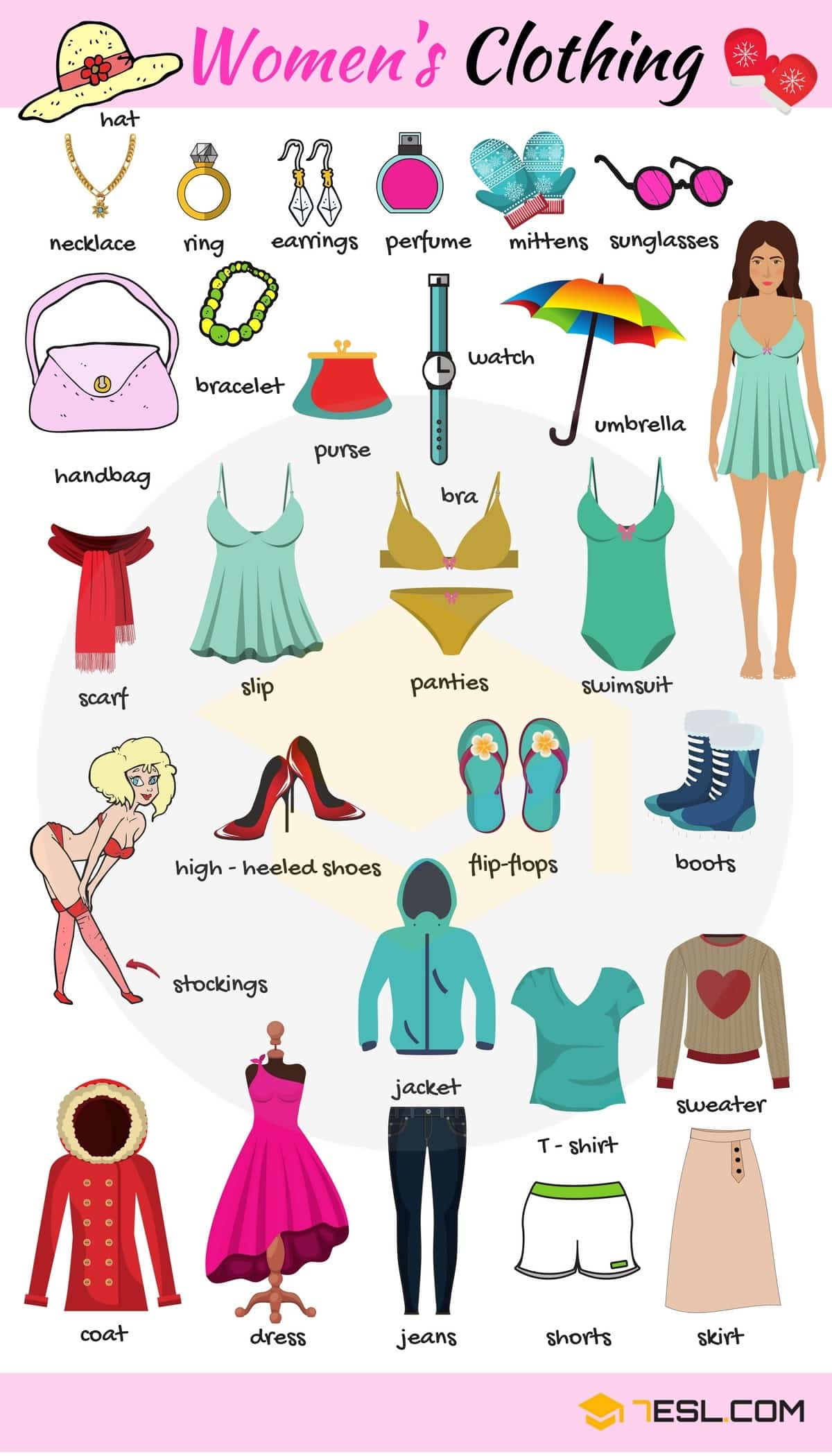 Women's Clothing Vocabulary | Images