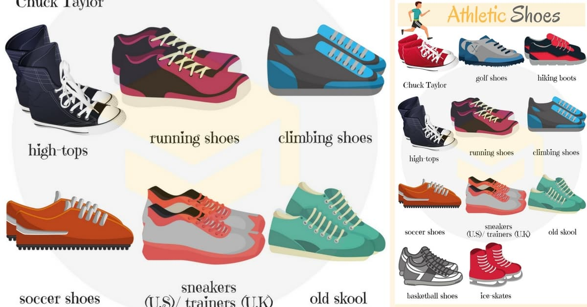 athletic shoes vocabulary in types of shoes 7