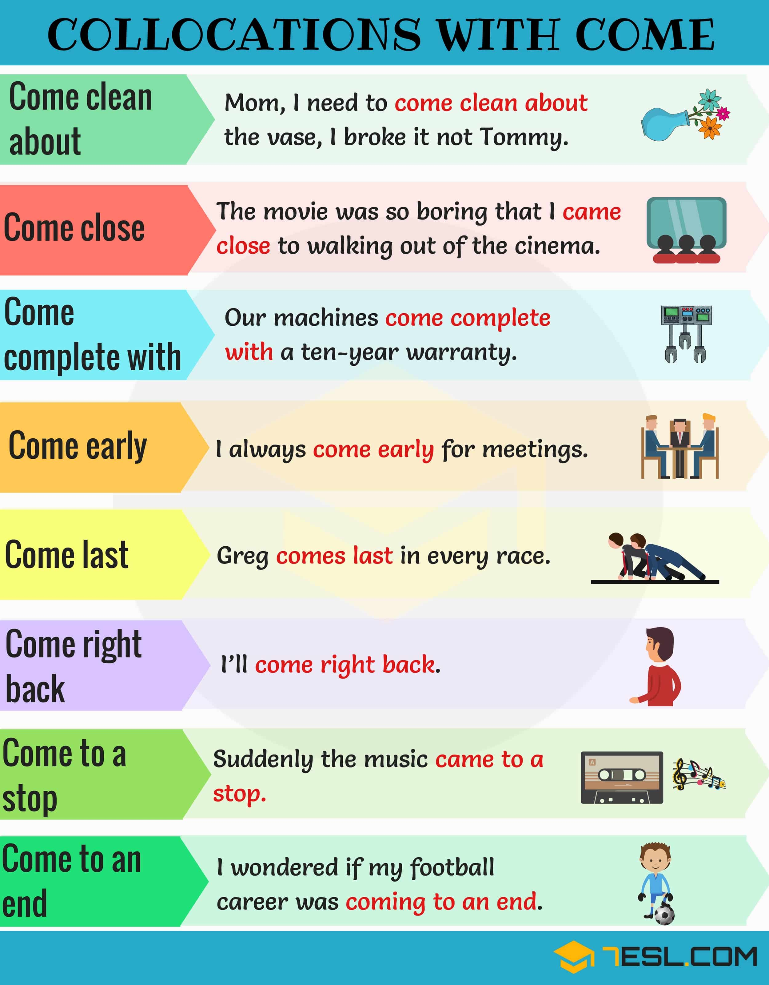 Collocations with COME
