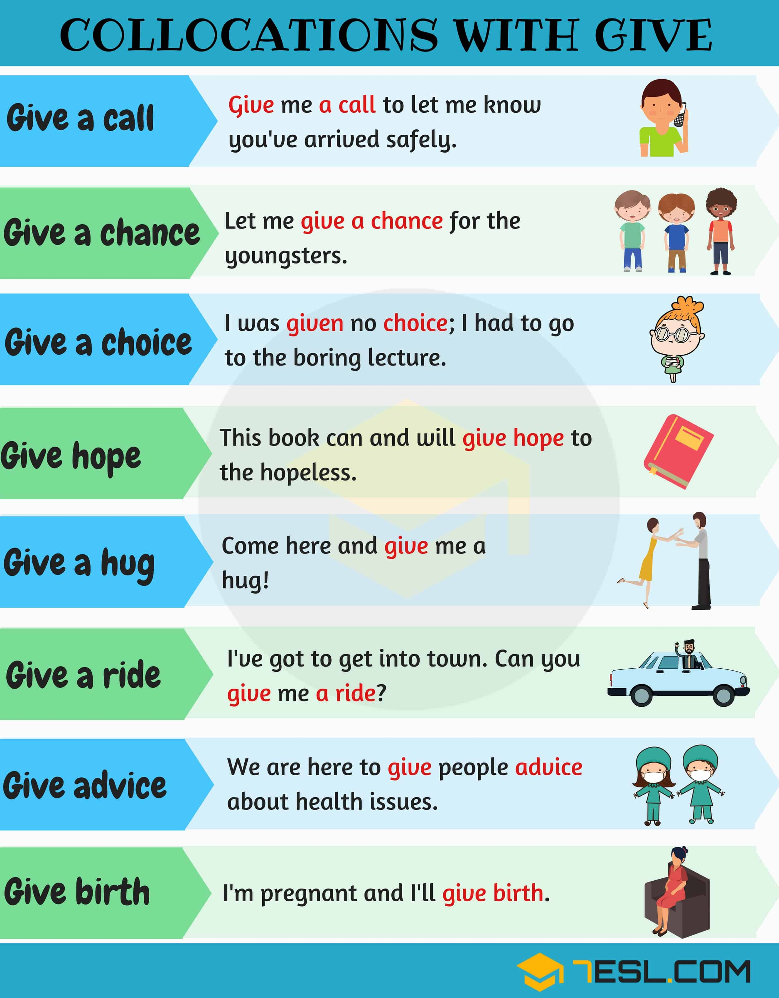 collocations with GIVE