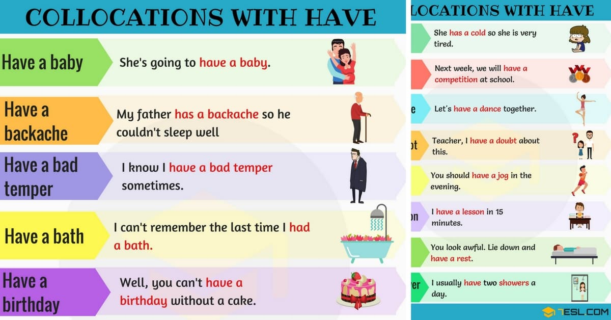 120+ Useful Collocations with HAVE in English 1
