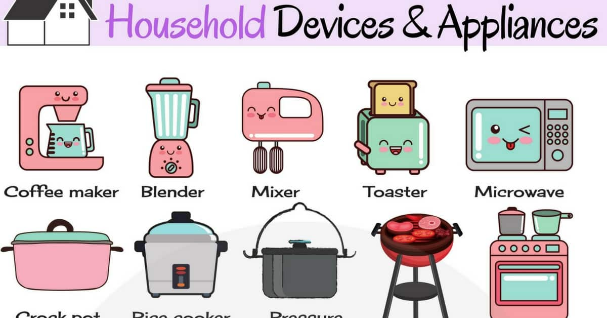 Household Appliances Vocabulary | List of Home Appliances 1