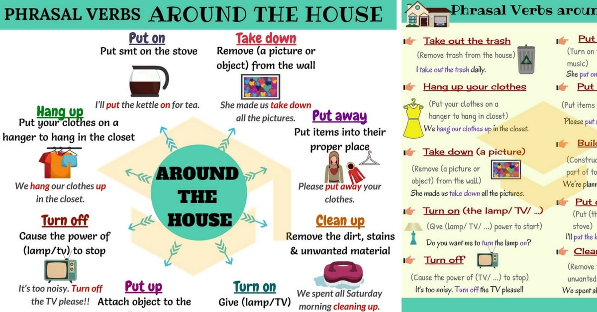 House Phrases: 17 Useful Phrasal Verbs Around the House 6