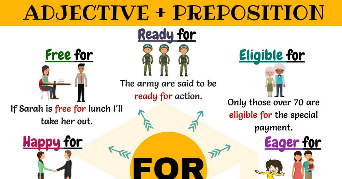 27 Common Adjective Collocations with the Preposition FOR 1