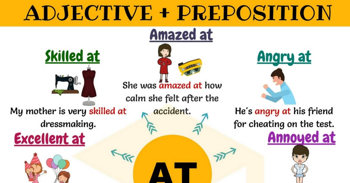 Adjective Preposition Combinations – the Preposition AT 1
