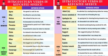 Introductory Verbs in Reported Speech | English Grammar 10