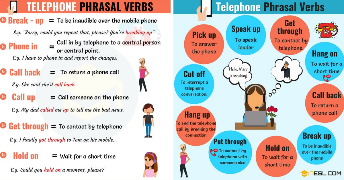 17 Useful Telephone Phrasal Verbs in English 1
