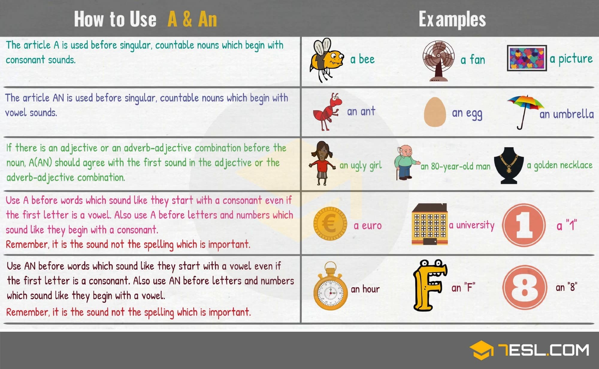Indefinite article in English: rules of use, examples 48