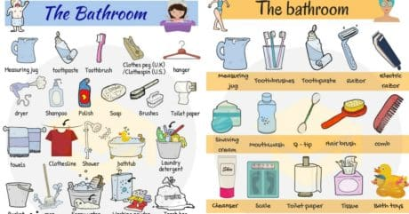 Bathroom Items Names With Pictures