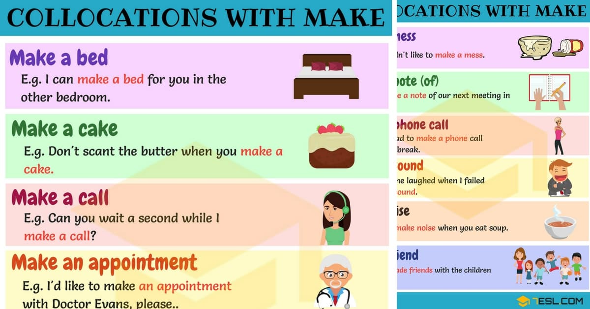 Expressions with MAKE: 90+ Collocations with MAKE 1