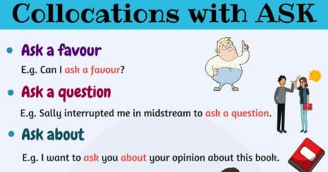 10 Useful Collocations with ASK | English Expressions 49