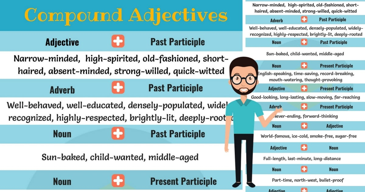 Forming Compound Adjectives Rules And Examples 7 E S L